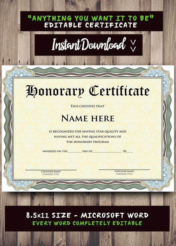 Printable CERTIFICATE Template Microsoft Word by ScriptureWallArt - name a star certificate template