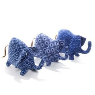 Baby Shweshwe Elephant Crafted by Ikamva Labantu