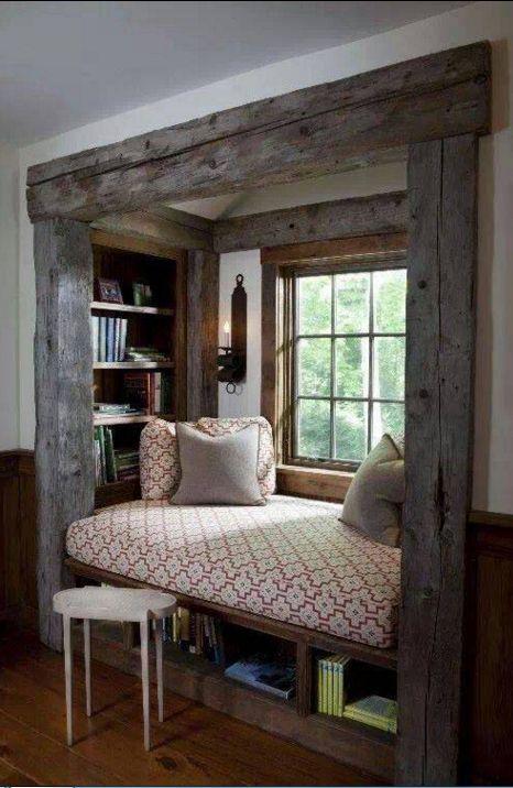 Rustic Book Nook