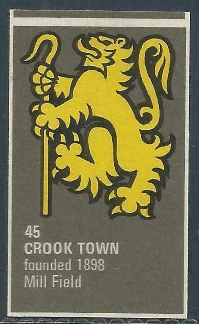 Crook Town of England crest.