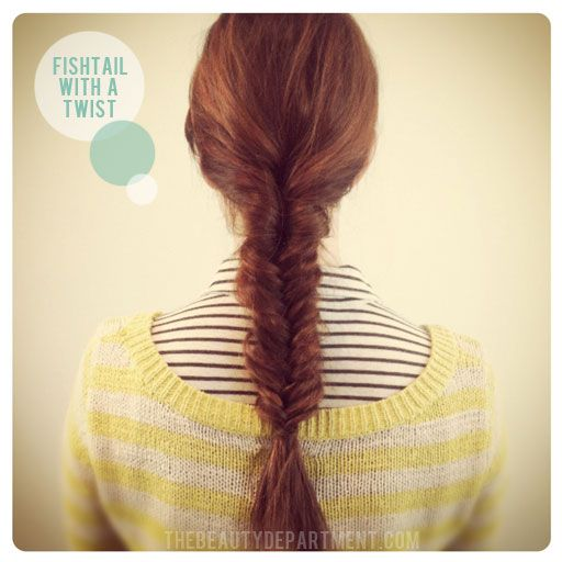 fishtail with a twist; fishtail braid; the beauty department