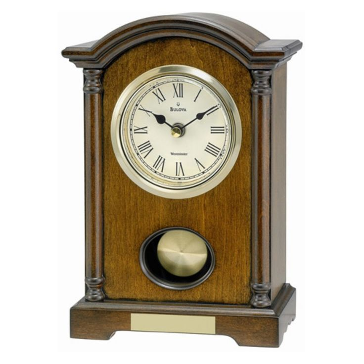 Bulova Dalton Walnut Mantel Clock - B7466