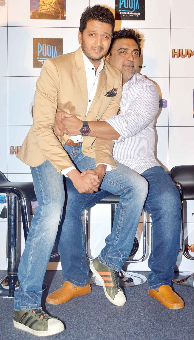 Riteish Deshmukh and Ram Kapoor at the first look launch of 'Humshakals'. #Style #Bollywood #Fashion #Handsome