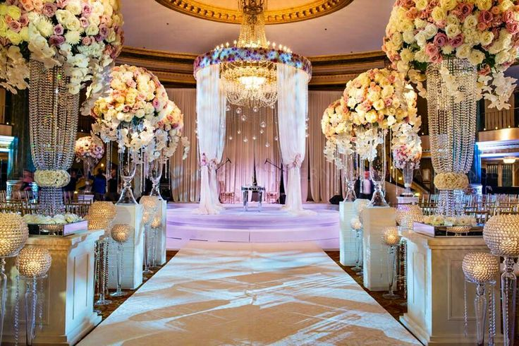 Beautiful Elegant Indoor Ceremony Setting~ Amaryllis