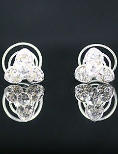 2 Pieces Gorgeous Rhinestones Bridal Pins Special Occasion Headpieces