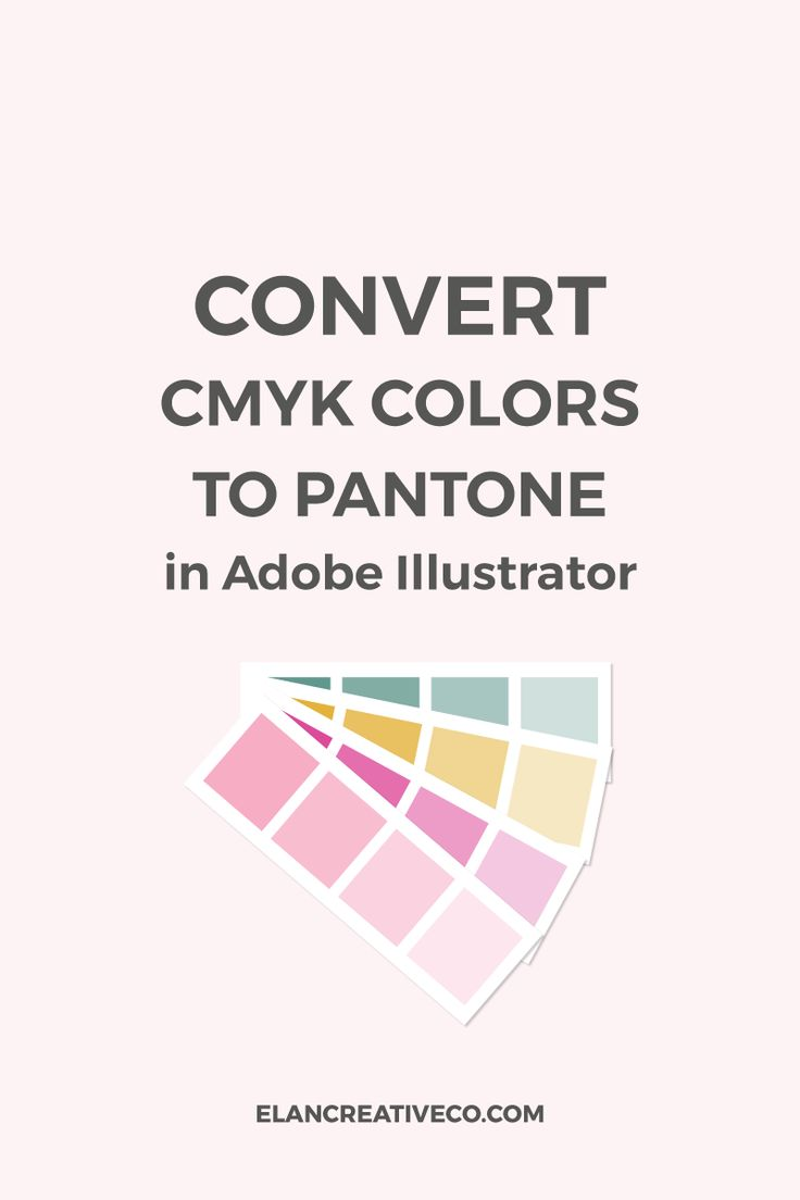 How to use the recolor artwork tool in Illustrator to quickly convert RGB or CMYK colors to Pantone palettes. #graphicdesign #adobeillustrator