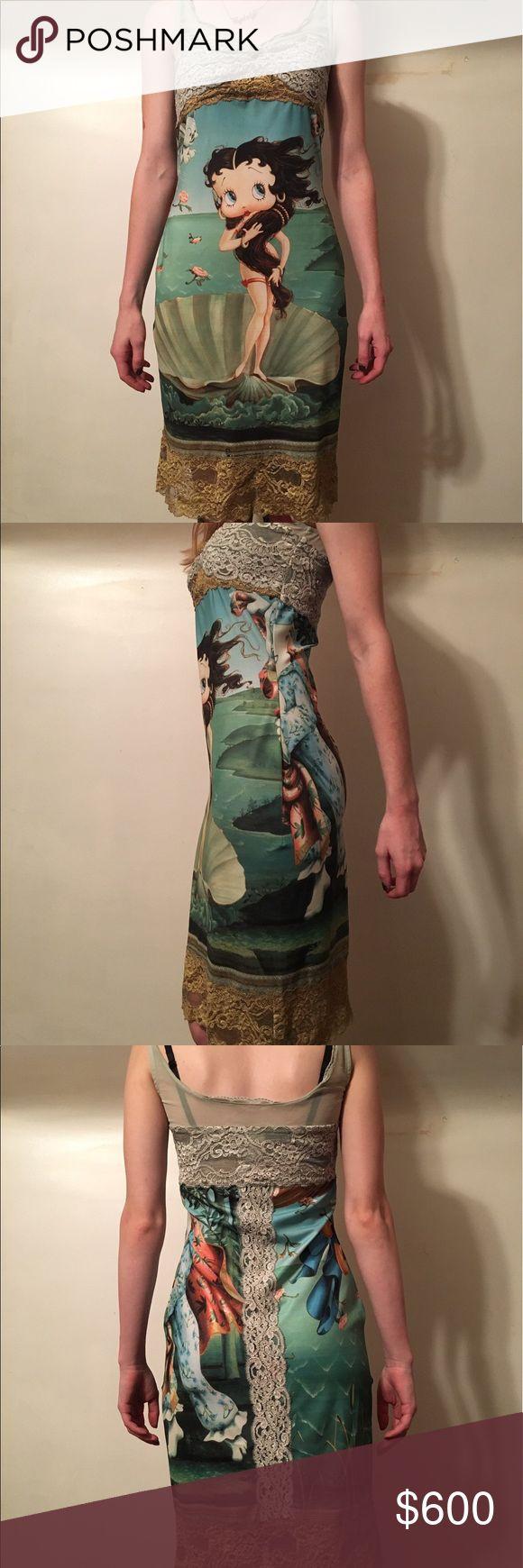 Eletra Casadei Betty Boop Birth of Venus Dress Extremely Rare! Eletra Casadei Betty Boop Birth of Venus Dress  (like new)  Size: Small/Medium  Color: Multi Casadei Dresses Midi