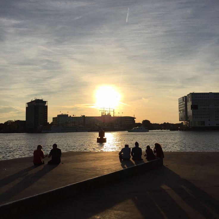 #Amsterdam Photography by @JansjeJKF #eye-film #sunset
