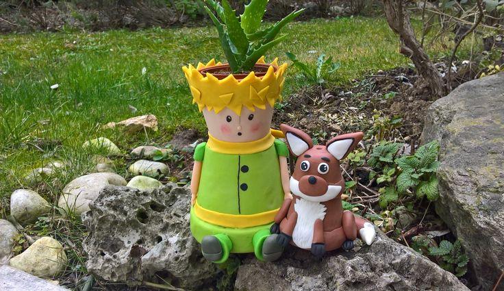 Il piccolo principe e la volpe.