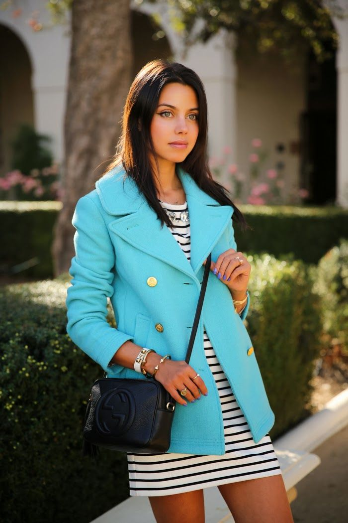 J Crew Peacoat- same one Ive been wanting! STRIPES