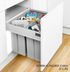 Pullboy Z D500 x W600mm Antaro (Grey or Steel) | Supplier - LDL Kitchen and Furniture Fittings & Accessories