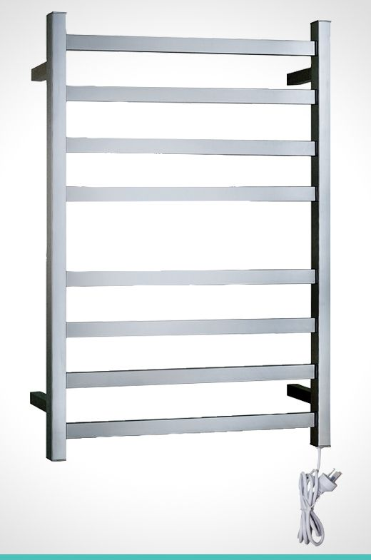 Mondella Concerto highly polished 304 grade stainless steel 8 bar heated towel rail