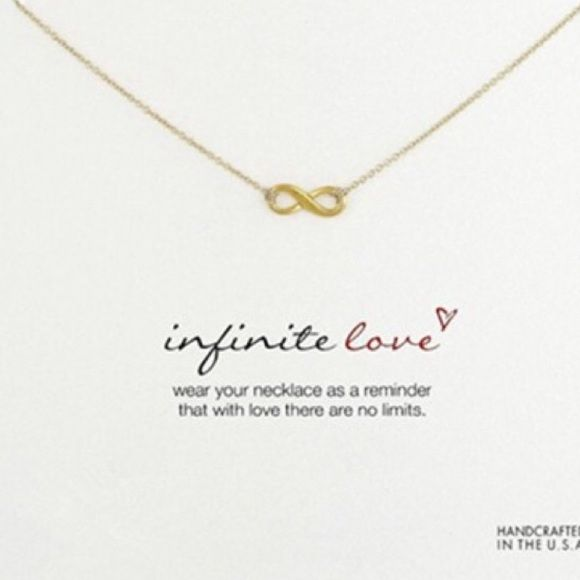 Brand New Infinite Love Necklace with Card Brand New! Comes with special meaning card! Jewelry Necklaces