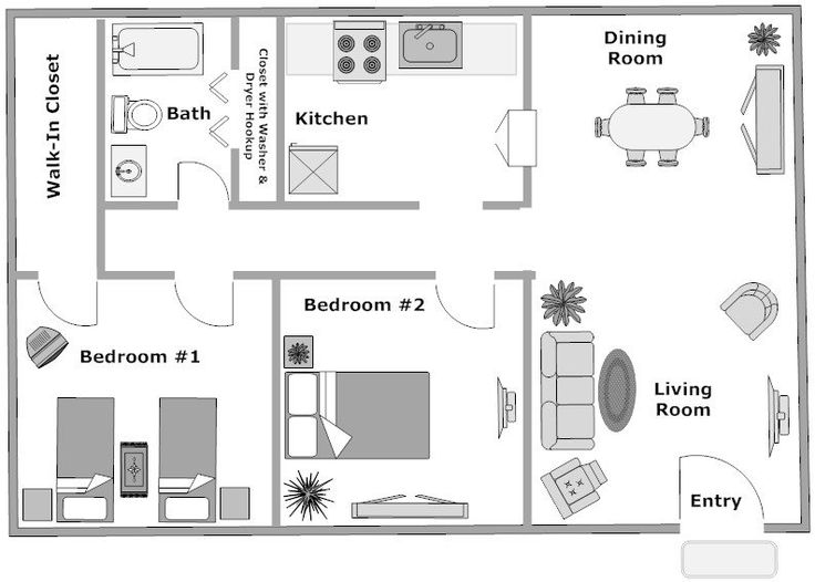 Our maple floor plan is 2 bedrooms 1 bathroom and is a - 1 bedroom apartments everything included ...
