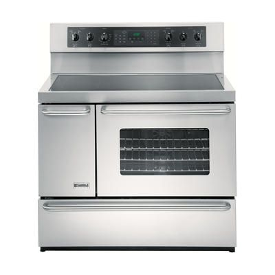 side by side oven electric | Kenmore Elite 5.4 cu. ft. Double-Oven Electric Range - Stainless Steel