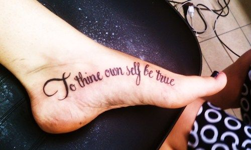 """""""To Thine Own Self Be True."""" Really? 