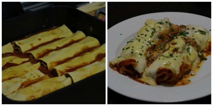 Beef and Vegetable Cannelloni.