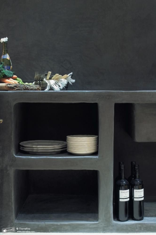 always so cool - Seamless Tadelakt Kitchen... get some more inspiration at www.homeanddelicious.com