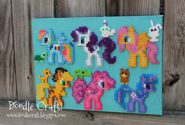 My Little Pony Perler Bead Art Perfect Party Craft For 8