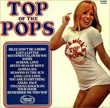 Top of the Pops albums. These 70s albums, often sold for £1.25 in Woolworths, contained all the chart hits, but performed by Butlins cabaret bands, who were paid with beer and crisps.