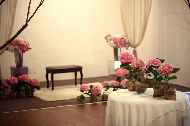 친환경 결혼식 신부대기실