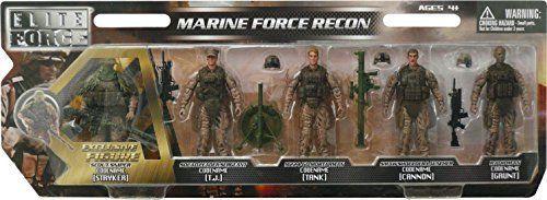 Elite Marine Soldiers Action Figures Playset Army Machine Guns Rocket Launchers  #EliteForce