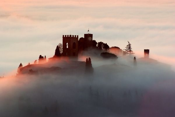 Panoramic view of Buggiano during a mild winter in Tuscany