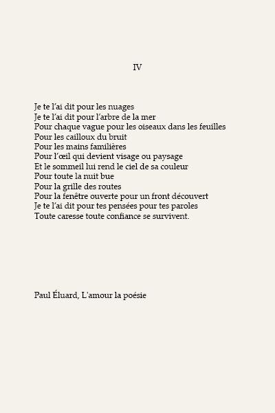 Paul Éluard, L'amour la poésie