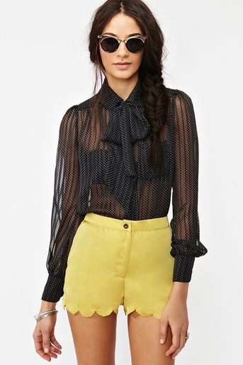 Dotted Line Blouse  http://www.nastygal.com/whats%2Dnew/dotted%2Dline%2Dblouse?utm_source=pinterest_medium=smm_campaign=pinterest_nastygal