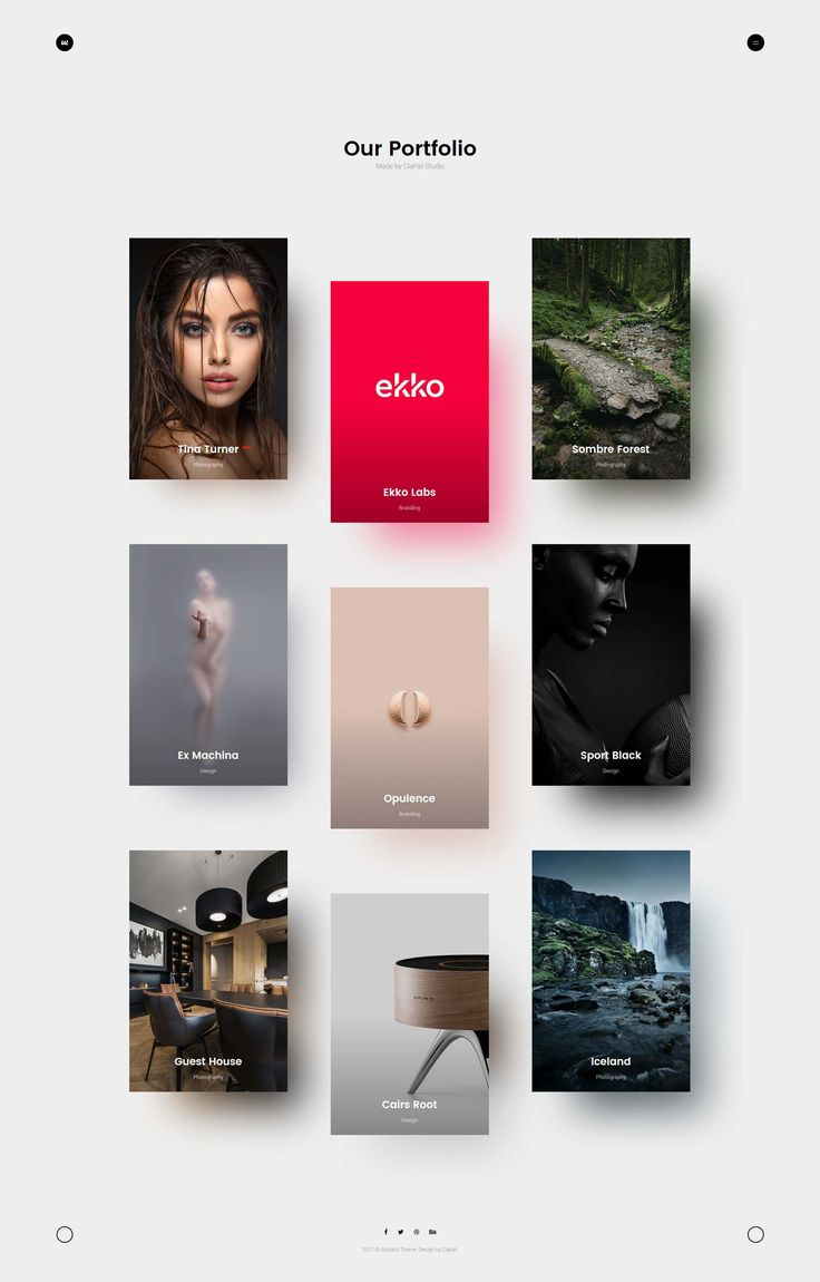 Wizzard - Modern portfolio template with smooth page transitions and creative grid layout. build for designers, photographers and all creative people