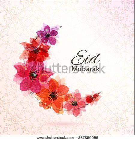 Eid Mubarak background. Eid Mubarak - traditional Muslim greeting. Stylized…