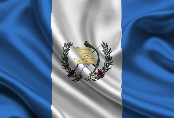 Guatemala, Satin, Flag
