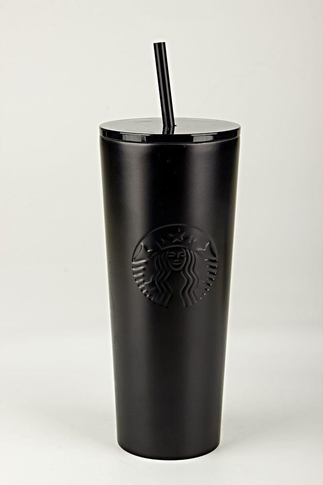 Ebay Parraine Starbucks 24 Oz Noir Mat Acier Inoxydable Froid Tasse Gobelet En Acrylique De Nouvelles Starbucks Acier Inoxydable Inoxydable