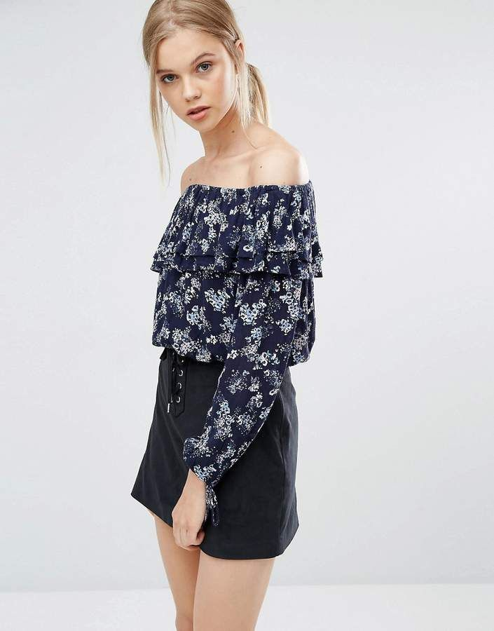 15eb8f6e850ef Abercrombie   Fitch Off the Shoulder Boho Top