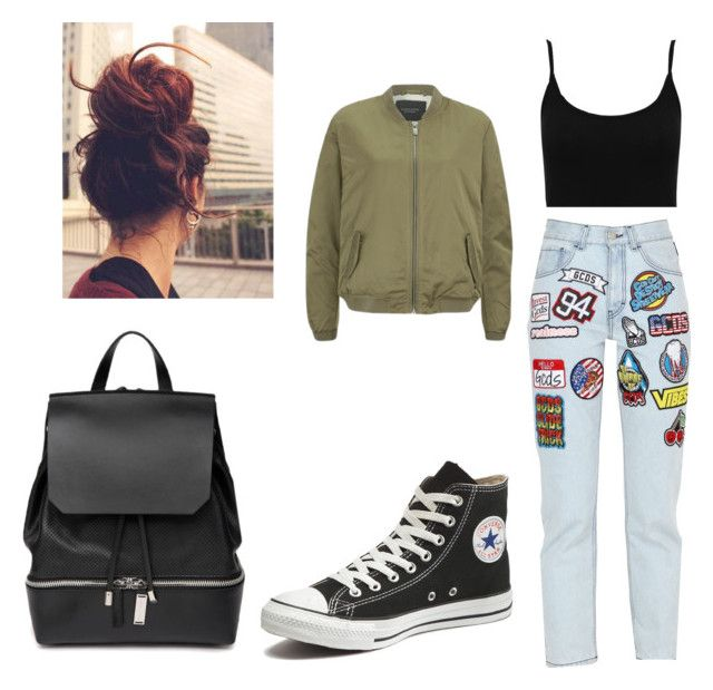 """""""Untitled #14"""" by joyce-tan99 on Polyvore featuring M&Co, GCDS, Maison Scotch, Converse and COSTUME NATIONAL"""