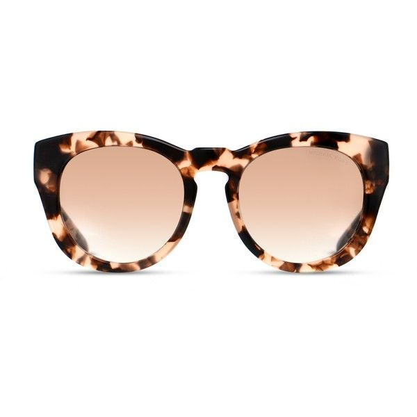 Michael Kors Summer Breeze Leopard (Non-Rx-able) ($159) ❤ liked on Polyvore featuring accessories, eyewear, sunglasses, leopard, over sized sunglasses, summer sunglasses, michael kors eyewear, keyhole glasses and leopard print sunglasses