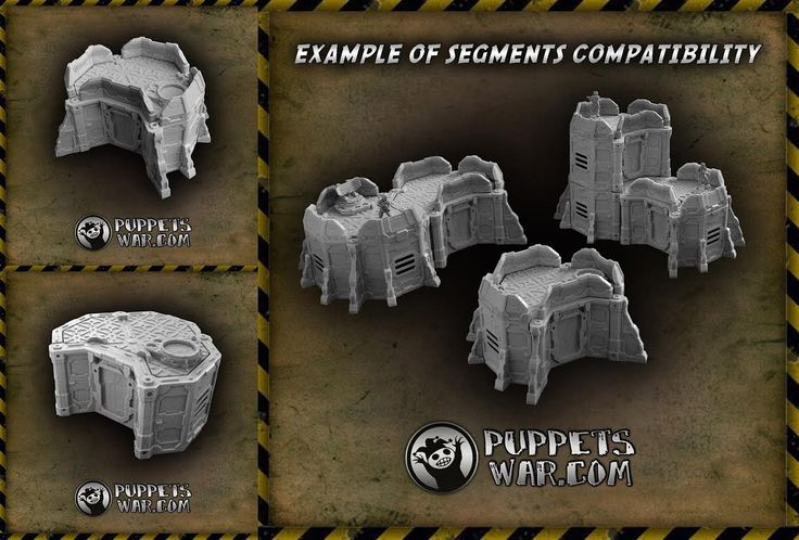 Two new modular releases today - and as they are resin structures, one can buy them with 10% discount now: https://puppetswar.eu/product.php?id_product=685 Basic Outpost Segment https://puppetswar.eu/product.php?id_product=686 Reinforced Outpost Segment