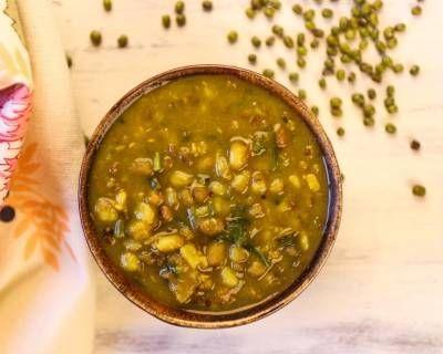 ढाबा स्टाइल हरी मूंग दाल तड़का - Dhaba Style Green Moong Dal Tadka (Recipe In Hindi)