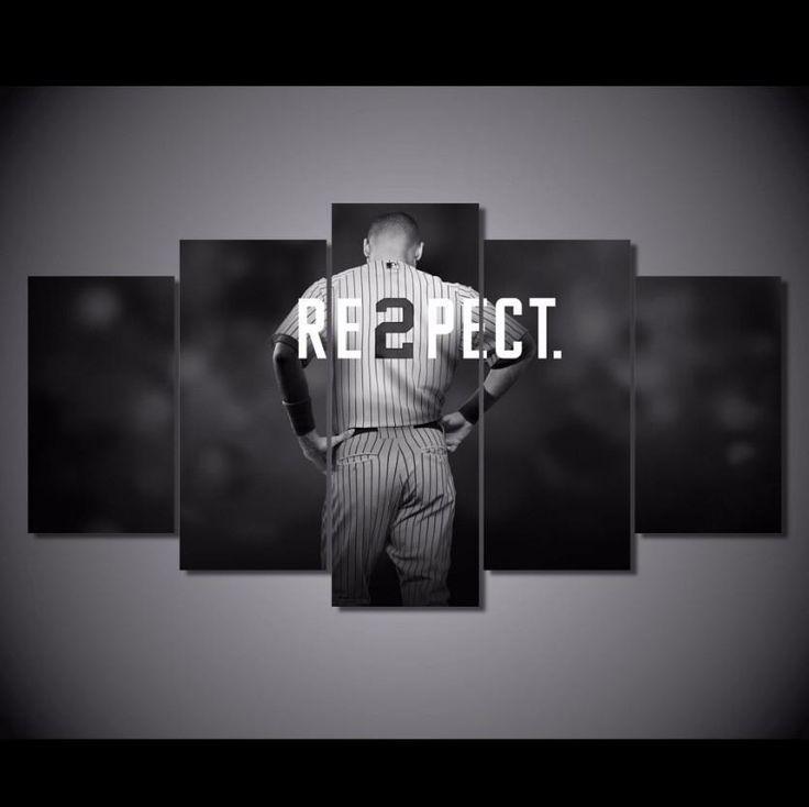 "5 Panel ""Respect"" Baseball Canvas Wall Art"