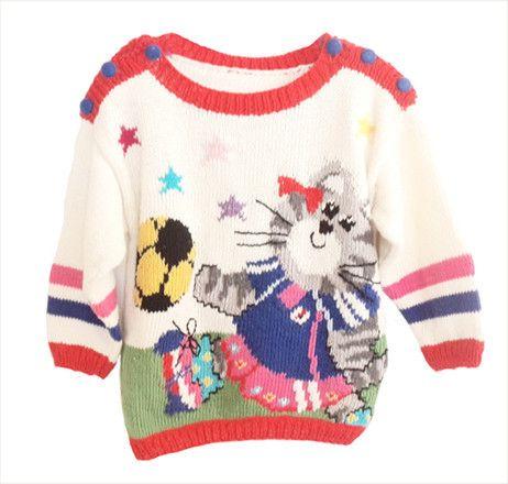 Wiquaオリジナルデザインの子供編込みセーター・キットです。世界最強のなでしこレディが、派手にシュート~~~!!後身頃は、カラフルな星が、刺繍されます。サイ...|ハンドメイド、手作り、手仕事品の通販・販売・購入ならCreema。