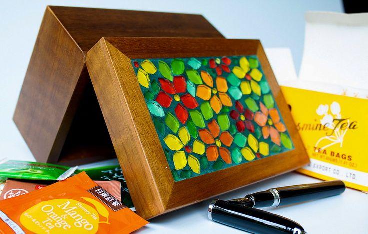 Коробка Чая мозаики Весна P | Коралл Мозаика | Elo7