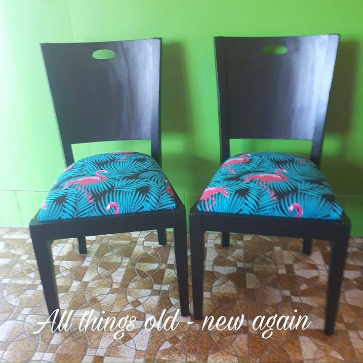 Upcycled set of 2 chairs - for sale $40 each or $70 the pair