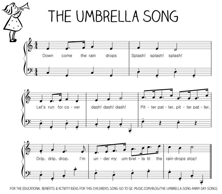 The Umbrella Song - Sheet Music for Piano (Rainy Day Songs)
