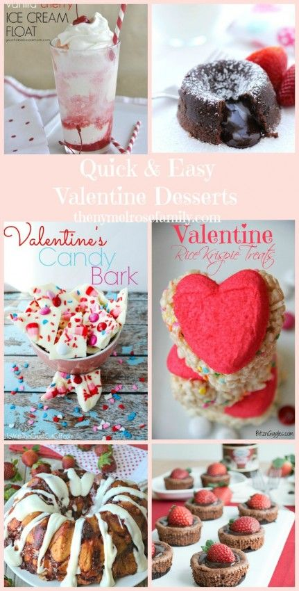 Quick and Easy Valentine Desserts