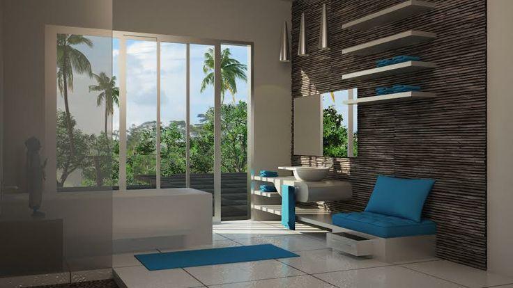 INVESTIR A BALI VILLA WHITE MASTER BATH ROOM