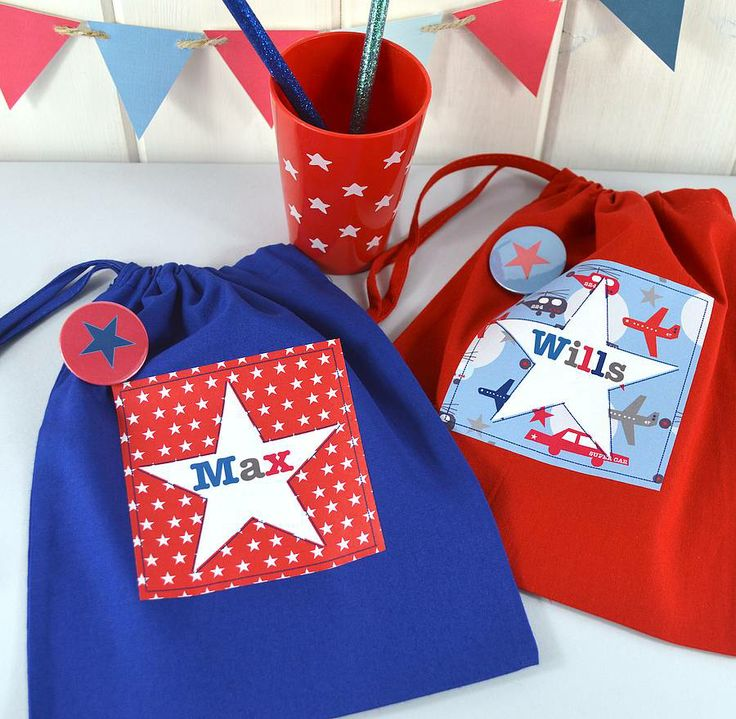 Kids gift bags. boy's personalised bright star party bag by tillie mint | notonthehighstreet.com