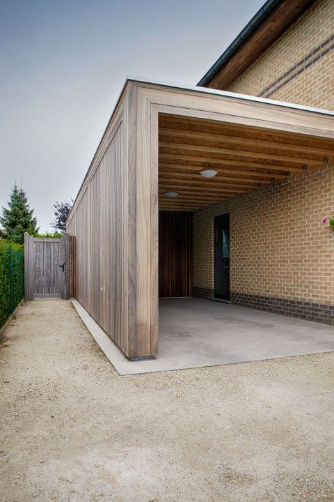 Best 25 carport modern ideas on pinterest moderne garage caport and garag - Carport bois 2 pentes ...
