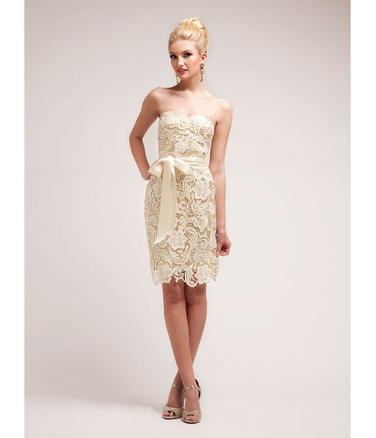 2014 Prom Dresses - Gold Nude Lace Cocktail Dress (40651-CIN1467) van Cinderella Divine Moto - This sexy cocktail dress...Price - $74.00-8CeJgv6o