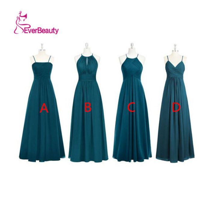 Aliexpress.com: Ever Beauty Dressesより信頼できる ショップビスチェ サプライヤから異なるスタイル花嫁介添人ドレスロングシフォンシンプルなデザインプリーツaライン中国オンラインショップローブdemoiselleドヌール勲章を購入します