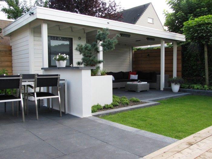 44 best images about tuinhuizen met overkapping tuinhuis met veranda on pinterest - Veranda modern huis ...
